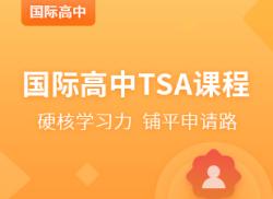 国际高中TSA课程