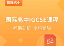 国际高中IGCSE强化课程